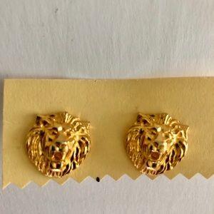 Gold Lion Anne Klein earrings